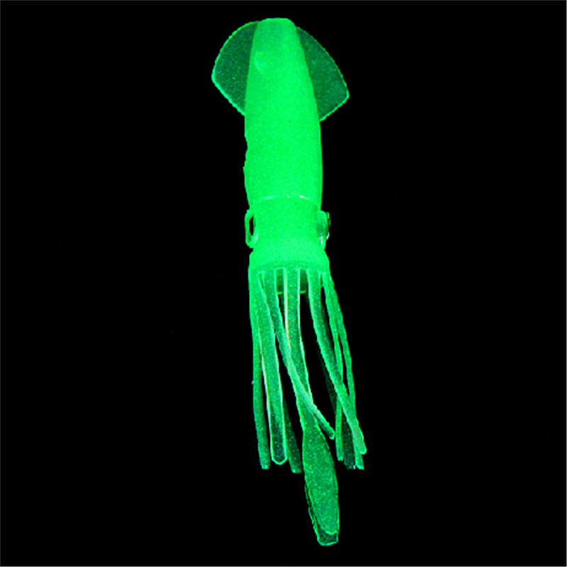 10Pcs 10.5cm 8g Silicone Fishing Lure Luminous Octopus Squid Soft Baits Sea Fake Lures Fishing Tackle 6058