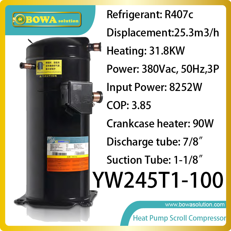 3phase 9HP R407c compressor (31.8KW heating capacity) specially designed for motel heat pump water heater(China (Mainland))