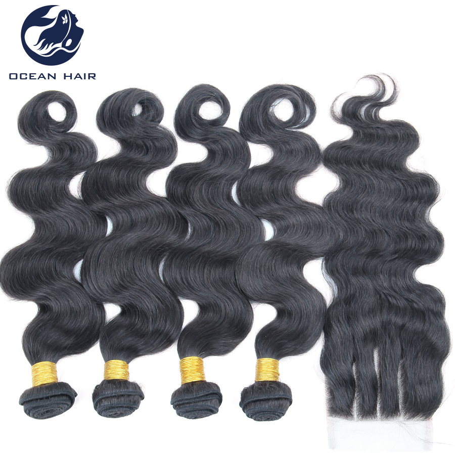 5pcs lot Peruvian Virgin Hair With Closure Body Wave Lace Closure With 4pcs Bundles Hair Unprocessed Human Hair Weave(China (Mainland))