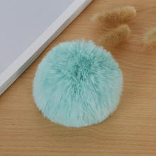 8 CENTÍMETROS Faux Fur PomPom DIY Saco Bulbo Capilar Bola Pom pom Coelho KeyChain Chaveiro Pingente para Jóias DIY acessórios do presente(China)