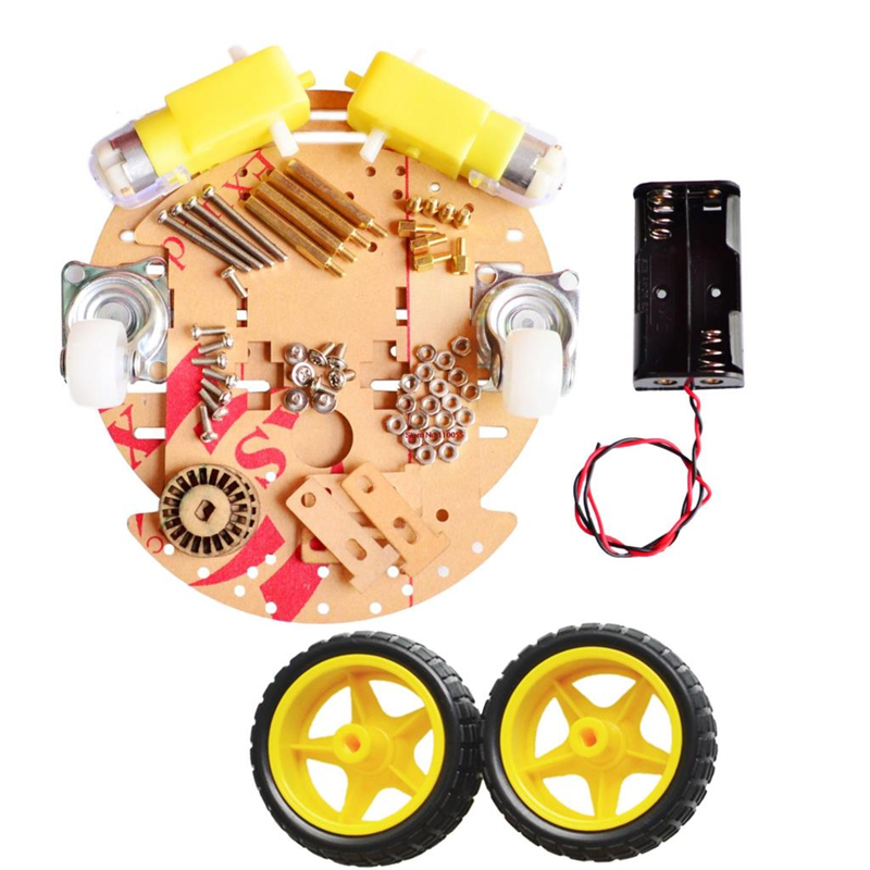 For Arduino Smart Car Chassis 2wd Robot Tracing Strong Magnetic Motor Car RT-4 Avoidance Car With Code Disk(China (Mainland))