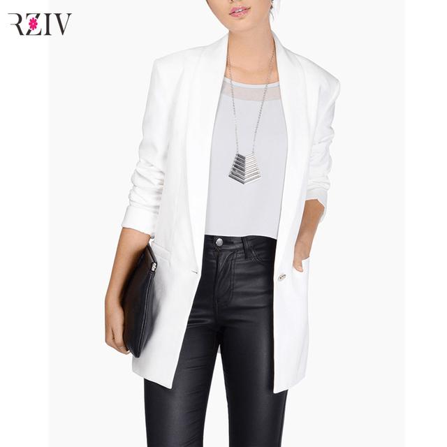 Новый свободного покроя женщина пиджак 2016 для пр пиджак куртки белый пиджак дамы