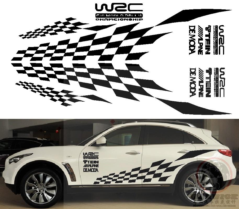 Racing Sport Grid championship Flag The whole car body Universal Sticker Graphic Decal Styling Decor Vinyl<br><br>Aliexpress