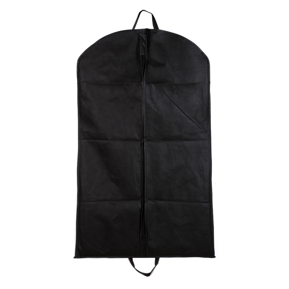 1pc Black Dustproof Hanger Coat Clothes Garment Suit Cover Storage Bags Free Shipping NG4S(China (Mainland))