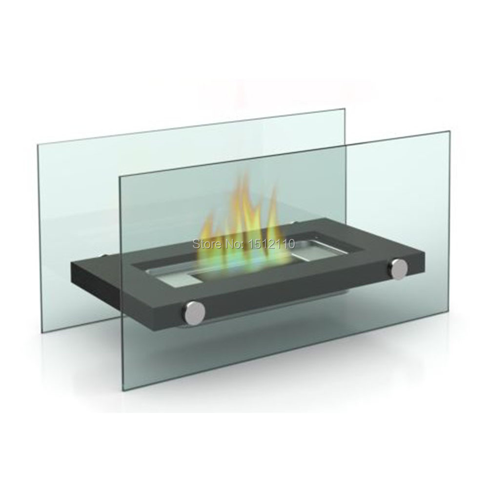 Metal And Glass Crafts Bio Ethanol Table Top Fireplace Home Decoration Fireplace KW2303(China (Mainland))