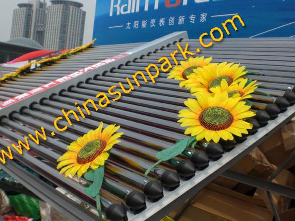 60 vacuum tubes water heating solar hot water panel(China (Mainland))