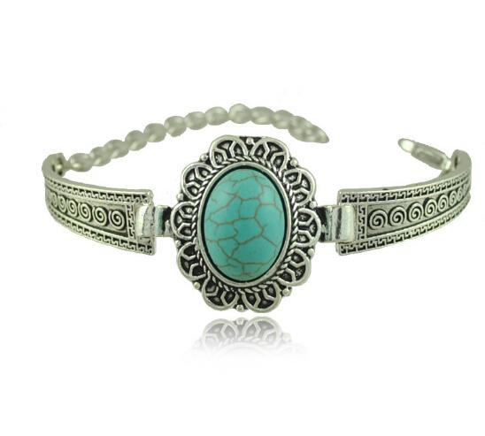 New Model Turkey Bracelet Ellipse Turquoise Bracelet For Sale With Lobster Clasp(China (Mainland))