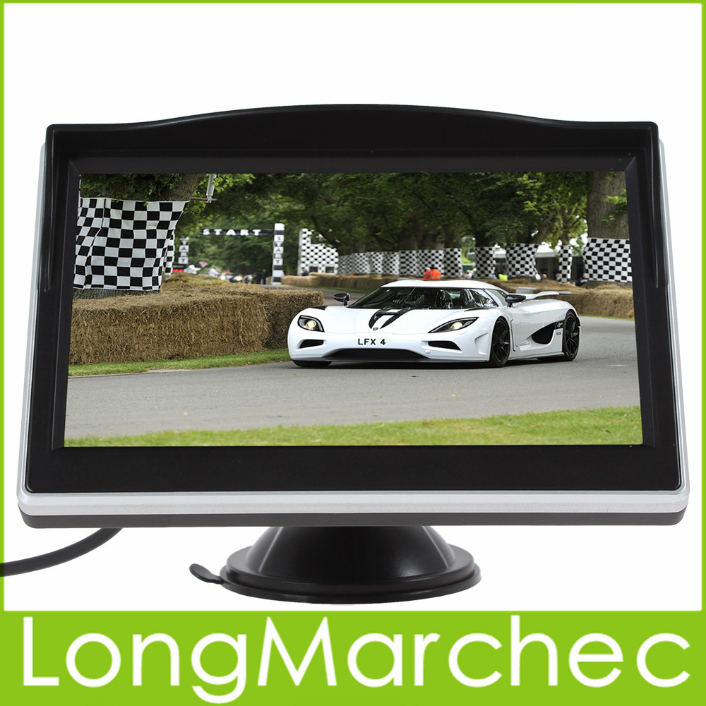 5 Inch TFT LCD 480 x 272 HD Color Car Monitor Support 2Ch Video Input For VCD / DVD / GPS / Rear View Camera(China (Mainland))
