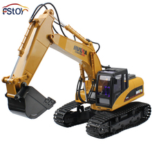 New Generation Full-functional 15-Channel Alloy Bucket High Realistic Electric RC Excavator USB Charging Toy(China (Mainland))