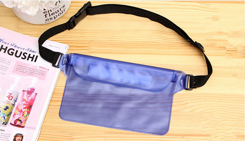 Waterproof Pouch Seal bag with Waist shoulder Strap Dry and Clean from Water Submersion for Swimming Boating ES1532(China (Mainland))