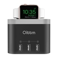 For Apple Watch Stand Oittm 4 Ports Desktop Smart Charging Station Nightstand Charger Dock For I