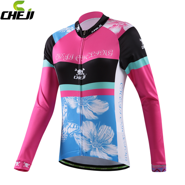 New Brand women Lycra breathable winter windproof cycling clothing long sleeve cycling jersey cheap cycling jerseys from China(China (Mainland))
