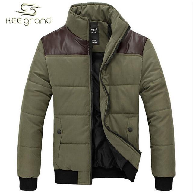 Зимняя куртка мужчины 2016 новое поступление свободного покроя стенд воротник мода ...