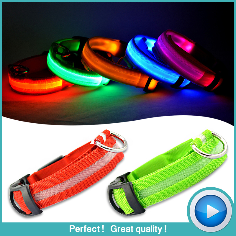 Pet Shop Free Shipping Pet Dog Collars For Dogs Pets Cats Glow Led Collars Productos Para
