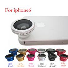 3 in 1 Universal Universal Magnetic Wide Macro 180 degree fisheye lens for iphone6 Samsung