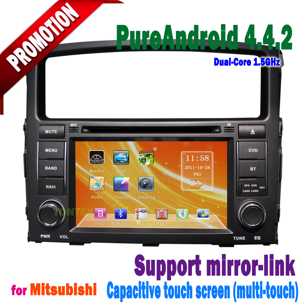 android 4.4.2 car dvd for mitsubishi pajero bluetooth 3g/wifi mirror-link +hotspot+radio/gps/mp3 2006 2007 2008 2009 2010 2011(China (Mainland))
