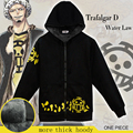 New fashion One Piece Trafalgar Law Clothing Red Heart Pirates Sweatshirt Cosplay Costume more thick Hoodies100