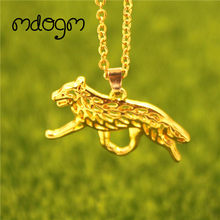 2019 Australian Cattle Necklace Dog Animal Pendant Gold Silver Plated Jewelry For Women Male Female Girls Ladies Kids Boys N151(China)