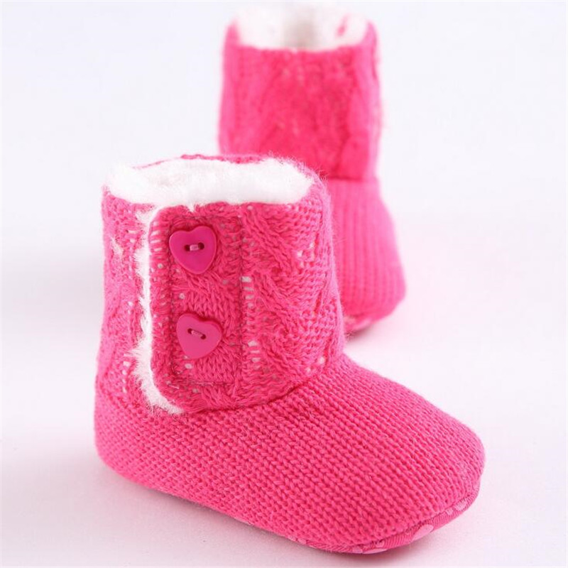 Winter warm lovely baby shoes girls first walkers knitted sweater baby boots girls toddler shoes 0-1 years olds baby girl shoes(China (Mainland))
