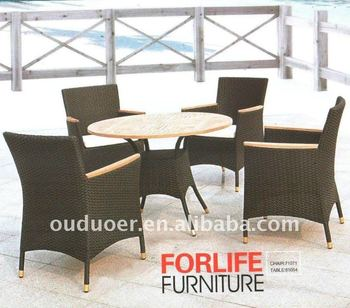 outdoor rattan furniture wing back chairs set