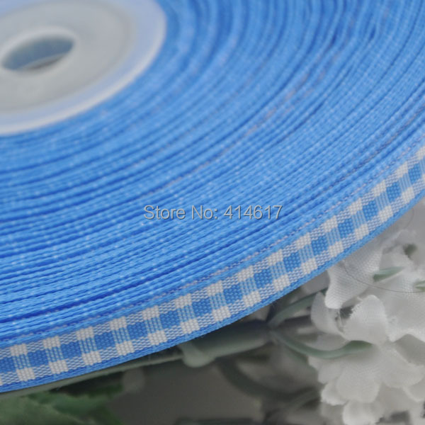 2 8 6mm Blue Color font b tartan b font plaid ribbon bows appliques craft sewing