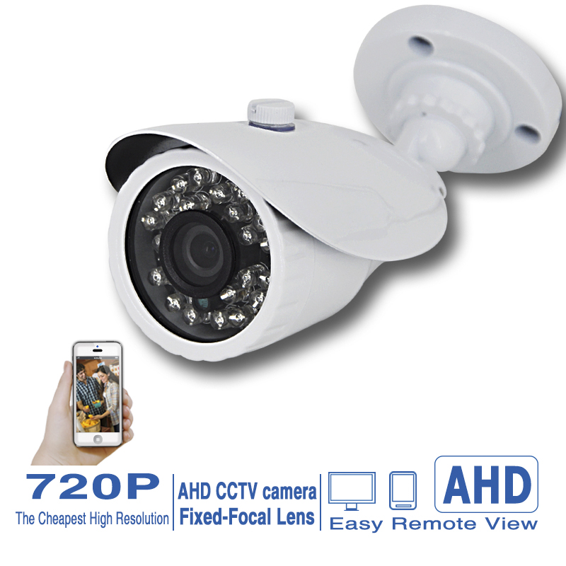 "Sale CCTV HD AHD Indoor CAMERA 1/4 ""CMOS Sensor 720P 1000TVL Security Cameras with IR-CUT 3.6mm fixed focal Lens Free Shipping(China (Mainland))"