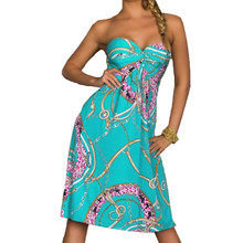 Sexy Summer Dress Vintage Bohemian Vestidos De Festa European Style Beach Print Harajuku Mujer Fashion Women Dress Party Clothes(China (Mainland))