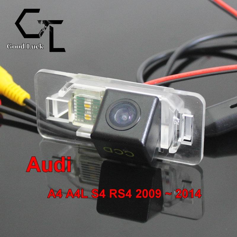 For Audi A4 A4L S4 RS4 2009 ~ 2014 wireless Car Rear View camera Waterproof Reverse Backup HD CCD Car Rearview Camera(China (Mainland))