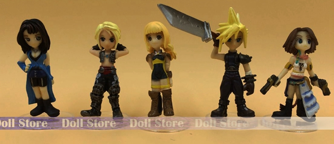 5pcs/lot 4-5cm PVC Japanese anime figure Final Fantasy trading art action figure set collectible model toys for boys(China (Mainland))