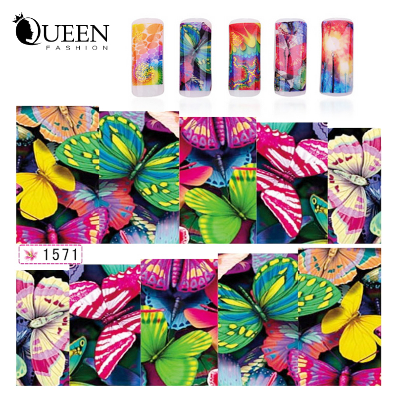 Nail Art Butterfly Water Transfer Stickers Nail Wraps Foil Polish Decals 10sheets DIY Beauty Watermark Nail