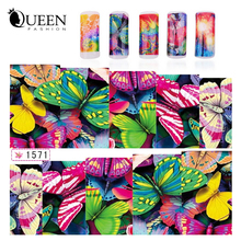 Colorful Butterfly Transferable Water Nail Stickers Decals,6Desgins(20sheets/lot) Fashion DIY Salon Express Nail Art Accessories