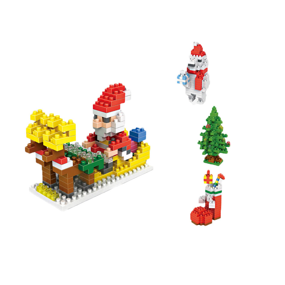 Christmas Presents CHRISTMAS old doll Snow Ice World Minifigures minecraft building Blocks Fugure Girls Kids Birthday toys 0718(China (Mainland))