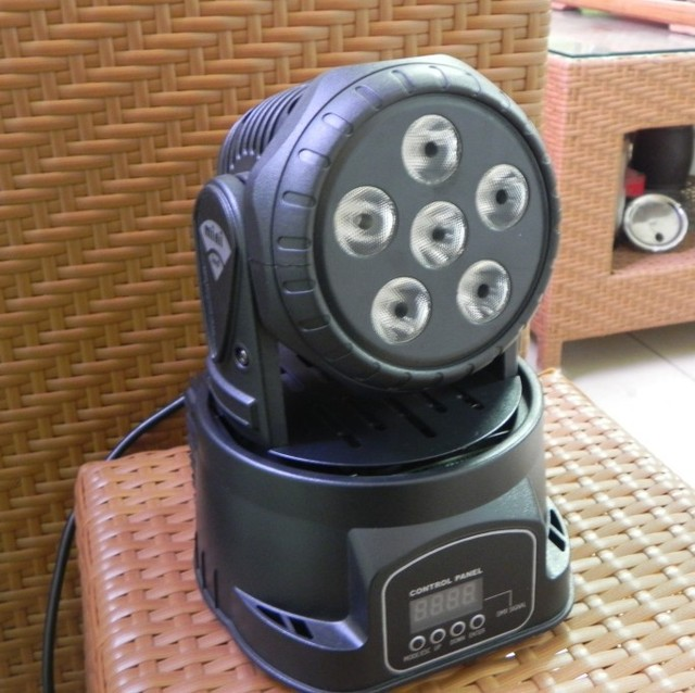 2pcs/Lot, 6*12w 4-in-1 RGBA mini led moving head light,low price disco light