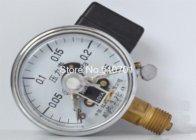Electric Contact Pressure Gauge Universal Gauge M14*1.5 60mm Dia 0-0.25Mpa<br><br>Aliexpress