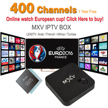 1 Year Arabic French IPTV Included Android TV Box MXV Support  Sport Canal Plus French Iptv Set Top Box Free Test