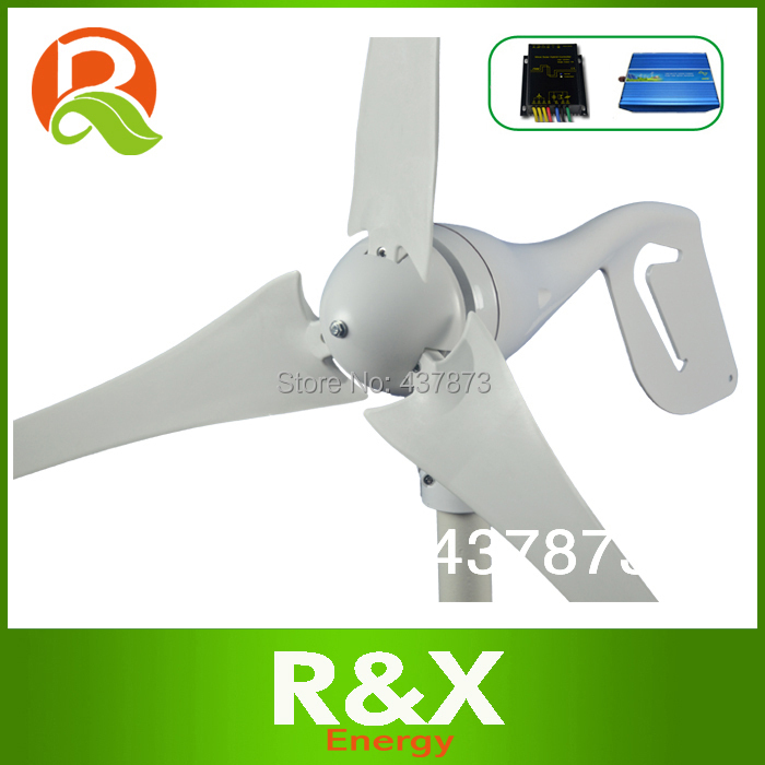 600w max Horizontal wind generator 12V/24V used for home. Combine with wind/solar hybrid controller(LED display)+600w inverter.(China (Mainland))