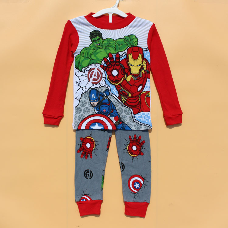 New 2015 boys children kids clothes clothing sets next 1 set / lot Winter Autumn Warm Pajamas fashion sleepwear suits(China (Mainland))