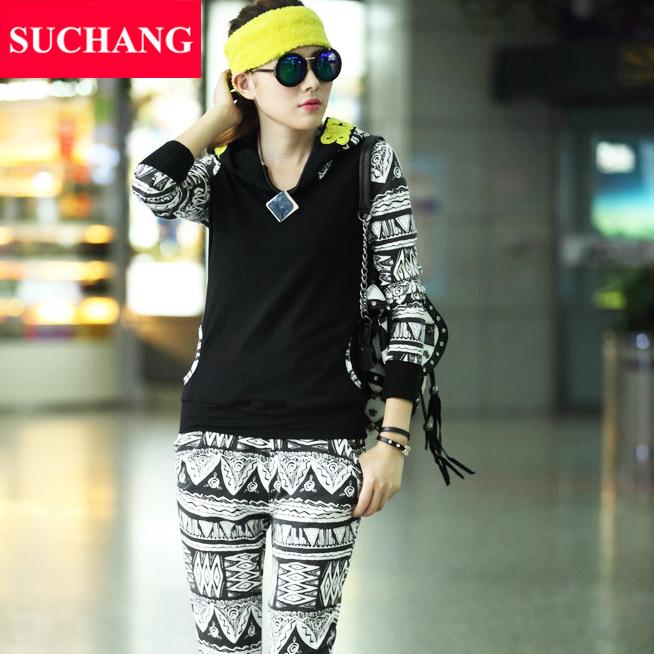 Best Quality! 2015 Summer & Autumn Fashion Tracksuit Women Hoody Sweatshirts casual leisure tracksuits Hoodies No.SC8022(China (Mainland))