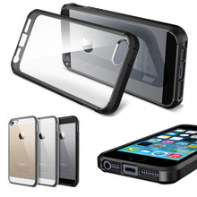 New Arrival Slim Ultra Hybrid Case TPU bumper Clear Crystal Transparent Rear Panel Cover for iPhone 5 5S 6 6S Plus 4.7 5.5 inch(China (Mainland))