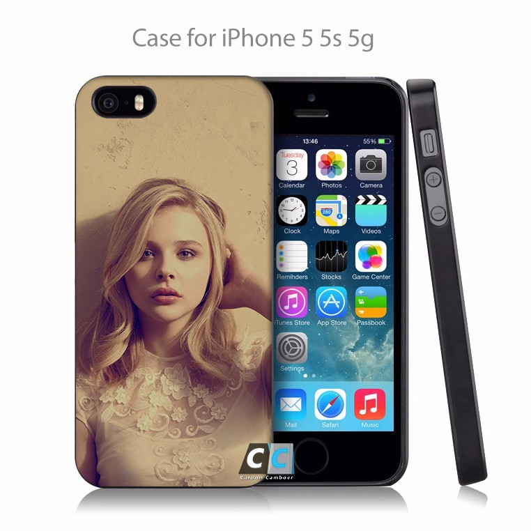 chloe moretz cute sexy actress celebrity Hard Black Case Cover Shell Coque for iPhone 4 4s 4g 5 5s 5g 5c 6 6g 6 Plus