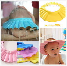 5p Baby Shower Cap Children Shampoo Bath Wash Hair Shield Hat Soft & Adjustable(China (Mainland))