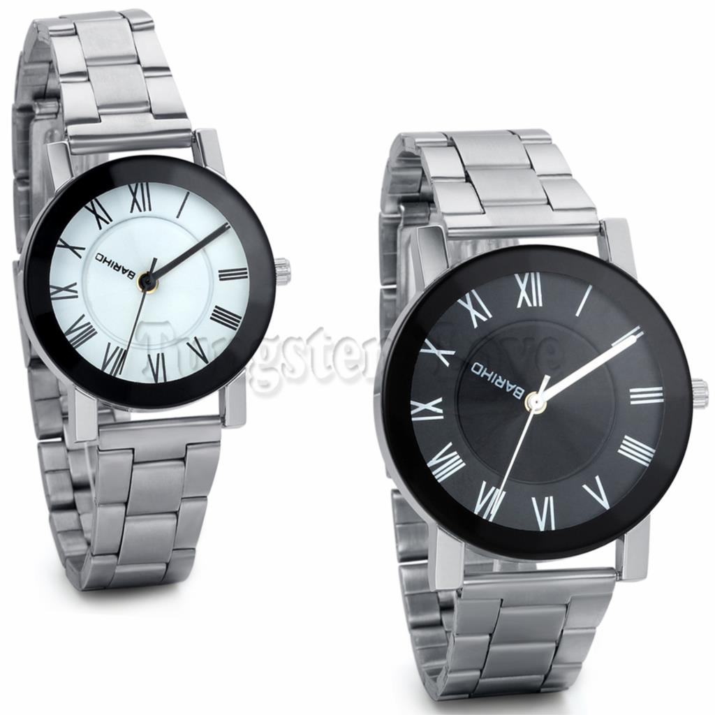 New Brand Lovers Stainless Steel Sport Fashion Roman Numerals LOGO Rotatable Casual Watches Women Men Lovers Reloj Quartz Watch(China (Mainland))