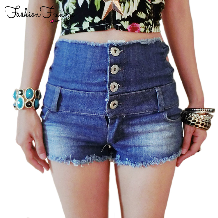 Bow Decorated Pocket & Button Design Women High Waist Denim Shorts Size S-L Fashion Summer Night Wear Lady Washed Jeans Shorts(China (Mainland))