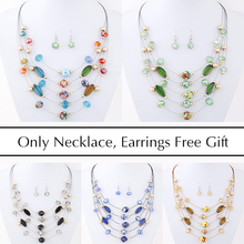 Brand Design Cheap Wild Multilayer Bohemia Beads Choker Gem Crystal Necklace Statement Necklace Pendants Jewelry For