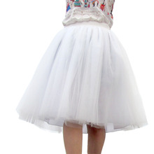 Maxi Long Tulle Skirt Apparel High Waist 6 Layer Tutu Skirts Womens Lolita Petticoat Faldas Saia Jupe Party Autumn American