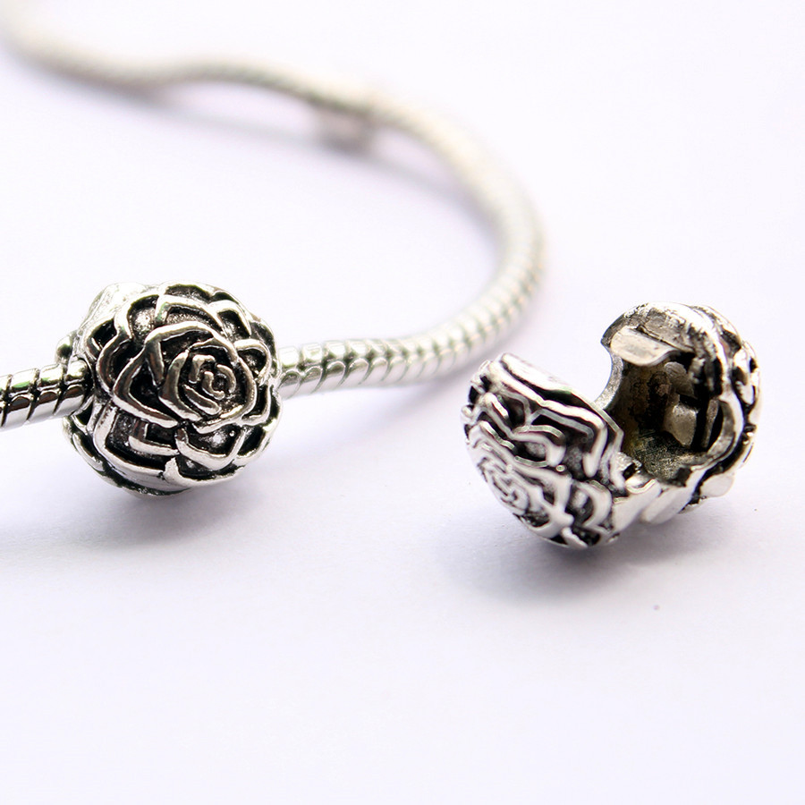 1pc free shipping Fits Pandora Charms Bracelet safety Bead Clip Stopper Star Pattern European Charm DIY Jewelry Findings-18(China (Mainland))