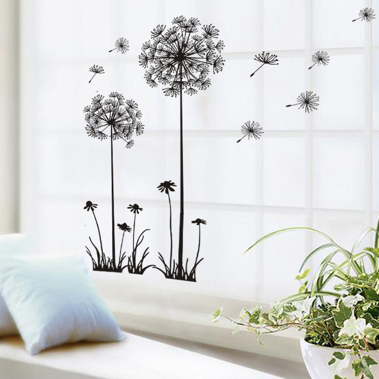 Adesivo de parede new removable dandelion diy home - Wall stickers for living room ...