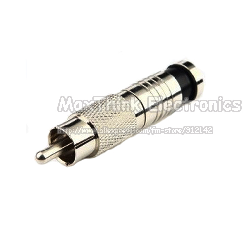 High quality RCA Type Compression Connector for RG6 Cable ,100pcs , Free shipping(China (Mainland))
