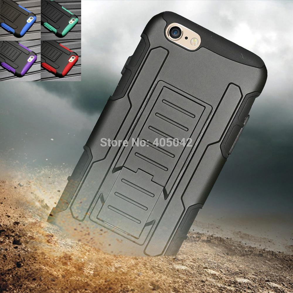 4.7 inch Rugged Hybrid Armor Impact Hard stand Case Cover +Film + Stylus For Apple iPhone 6(China (Mainland))