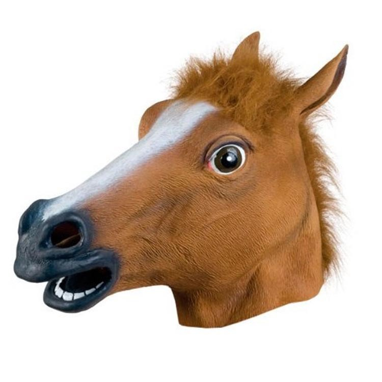 Creepy Horse Halloween Head latex Rubber Costume Theater Prop Party Mask Offering Discounts silicone Mask matoo(China (Mainland))